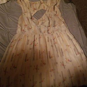 Anthropologie Sheer crane dress
